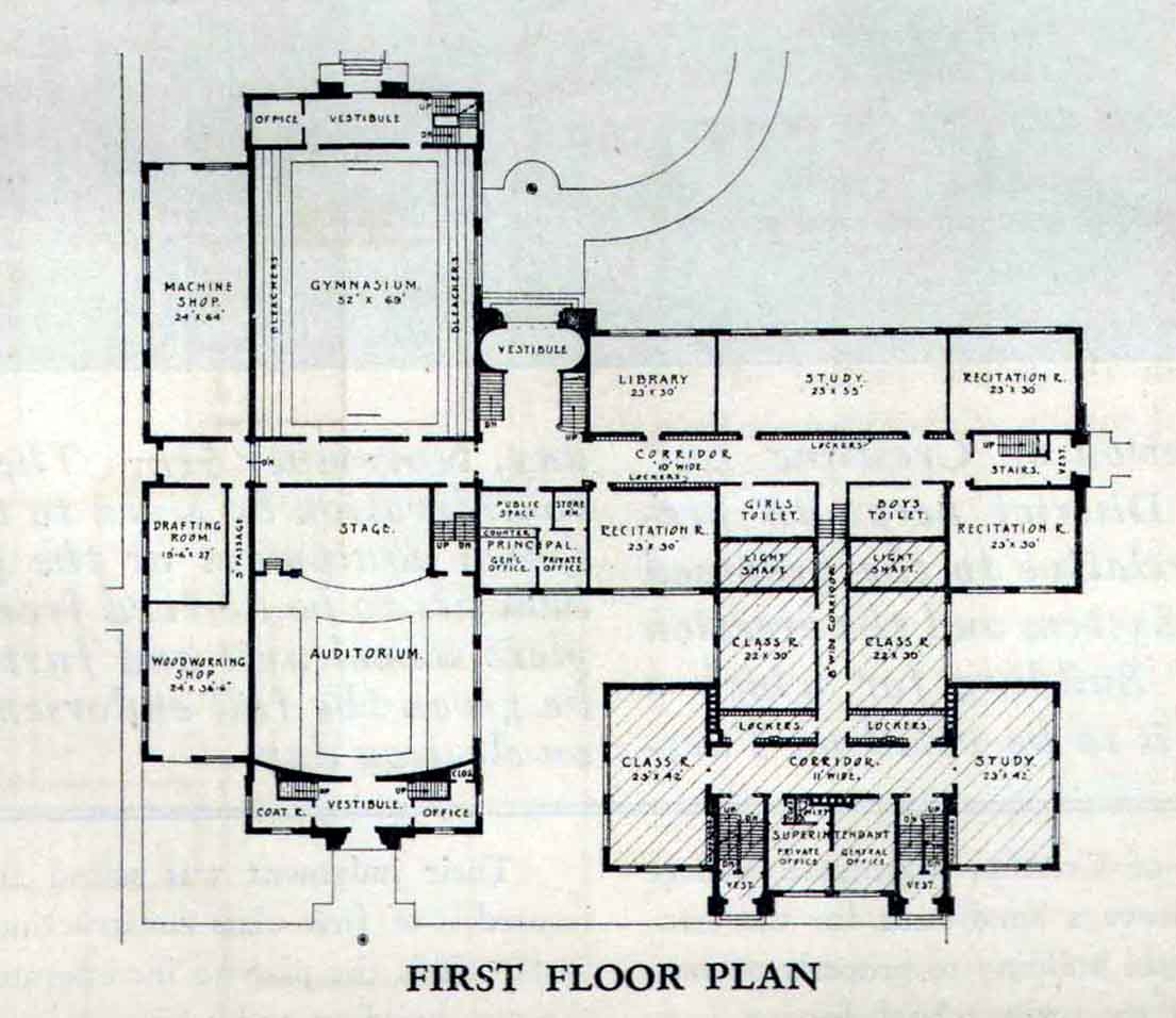 School floor plans modern high school floor plans www for Old school house plans